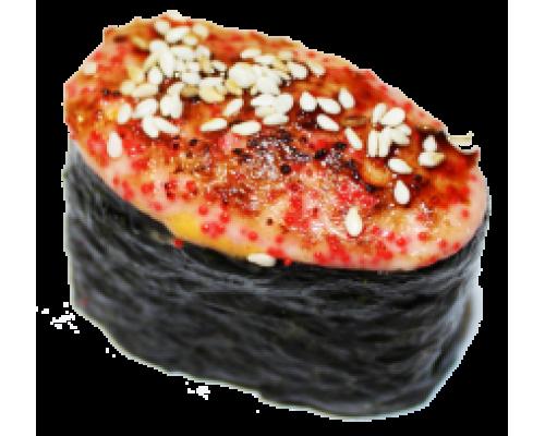 Запеченные суши с  копченой курицей